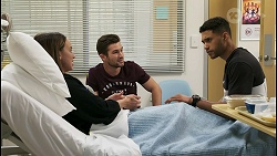 Bea Nilsson, Ned Willis, Levi Canning in Neighbours Episode 8547