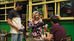 Levi Canning, Sheila Canning, Ned Willis in Neighbours Episode 8547