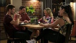 Ned Willis, Shane Rebecchi, Amy Greenwood, Yashvi Rebecchi in Neighbours Episode 8548
