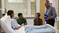 Bea Nilsson, Levi Canning, Susan Kennedy, Karl Kennedy in Neighbours Episode 8548