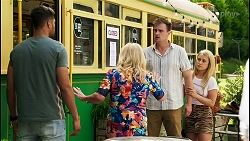 Levi Canning, Sheila Canning, Kyle Canning, Roxy Willis in Neighbours Episode 8549