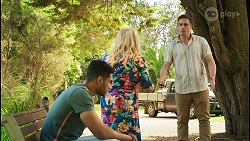 Levi Canning, Sheila Canning, Kyle Canning in Neighbours Episode 8549