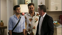 David Tanaka, Aaron Brennan, Paul Robinson in Neighbours Episode 8550