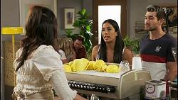 Dipi Rebecchi, Amy Greenwood, Shane Rebecchi, Yashvi Rebecchi, Ned Willis in Neighbours Episode 8550