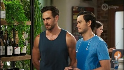 Aaron Brennan, David Tanaka in Neighbours Episode 8550