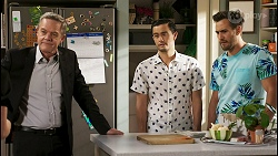 Paul Robinson, David Tanaka, Aaron Brennan in Neighbours Episode 8551