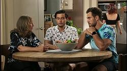Jane Harris, David Tanaka, Aaron Brennan, Nicolette Stone in Neighbours Episode 8551