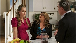 Harlow Robinson, Terese Willis, Paul Robinson in Neighbours Episode 8551