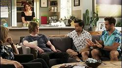 Jane Harris, Nicolette Stone, Brent Colefax, David Tanaka, Aaron Brennan in Neighbours Episode 8552