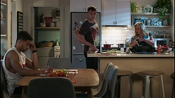 Levi Canning, Kyle Canning, Sheila Canning in Neighbours Episode 8552