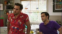 Aaron Brennan, David Tanaka in Neighbours Episode 8552