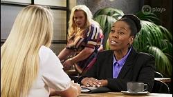 Roxy Willis, Sheila Canning, Mira Dhaliwal in Neighbours Episode 8552