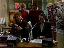 Peter Knotts, Debbie Martin, Rick Alessi, Dorothy Burke in Neighbours Episode 1753