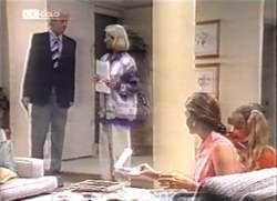 Len Mangel, Helen Daniels, Julie Martin, Hannah Martin in Neighbours Episode 2111