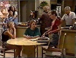 Michael Martin, Cody Willis, Danni Stark, Brett Stark, Cheryl Stark, Debbie Martin, Lou Carpenter in Neighbours Episode 2114