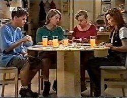 Michael Martin, Brett Stark, Debbie Martin, Cody Willis in Neighbours Episode 2114