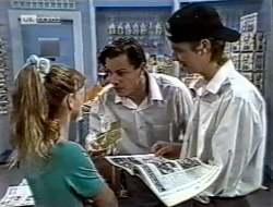 Hannah Martin, Rick Alessi, Brett Stark in Neighbours Episode 2121