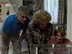 Lou Carpenter, Cheryl Stark, Brett Stark in Neighbours Episode 2121