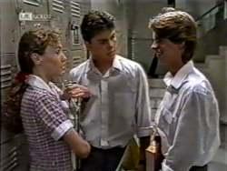 Debbie Martin, Michael Martin, Brett Stark in Neighbours Episode 2123