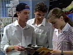 Brett Stark, Michael Martin, Debbie Martin in Neighbours Episode 2123