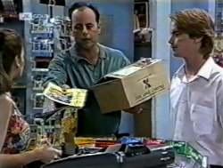 Julie Martin, Philip Martin, Brett Stark in Neighbours Episode 2125