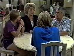 Danni Stark, Cheryl Stark, Brett Stark, Lou Carpenter in Neighbours Episode 2125