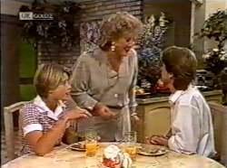 Danni Stark, Cheryl Stark, Brett Stark in Neighbours Episode 2133