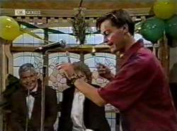 Lou Carpenter, Cheryl Stark, Rick Alessi in Neighbours Episode 2133
