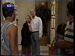 Michael Martin, Helen Daniels, Len Mangel, Hannah Martin, Philip Martin in Neighbours Episode 2134