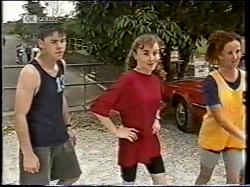 Michael Martin, Debbie Martin, Cody Willis in Neighbours Episode 2135