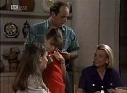 Julie Martin, Hannah Martin, Philip Martin, Helen Daniels in Neighbours Episode 2136