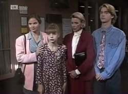 Julie Martin, Hannah Martin, Helen Daniels, Brett Stark in Neighbours Episode 2136