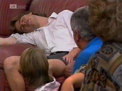 Brett Stark, Danni Stark, Lou Carpenter, Cheryl Stark in Neighbours Episode 2139