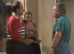 Philip Martin, Julie Martin, Lou Carpenter in Neighbours Episode 2140