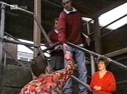 Michael Martin, Danni Stark, Rupert Sprod in Neighbours Episode 2166
