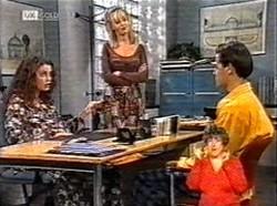 Gaby Willis, Annalise Hartman, Rick Alessi in Neighbours Episode 2167