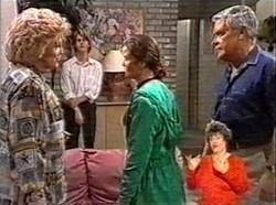 Cheryl Stark, Brett Stark, Julie Martin, Lou Carpenter in Neighbours Episode 2167