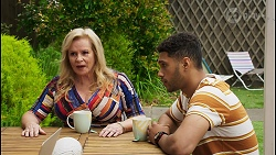 Sheila Canning, Levi Canning in Neighbours Episode 8553
