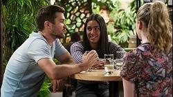 Ned Willis, Yashvi Rebecchi, Mackenzie Hargreaves in Neighbours Episode 8555
