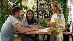 Ned Willis, Yashvi Rebecchi, Amy Greenwood in Neighbours Episode 8555