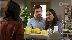 Dipi Rebecchi, Ned Willis, Yashvi Rebecchi in Neighbours Episode 8555