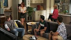 Brent Colefax, Nicolette Stone, David Tanaka, Jane Harris, Aaron Brennan in Neighbours Episode 8556