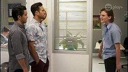 David Tanaka, Aaron Brennan, Brent Colefax in Neighbours Episode 8556