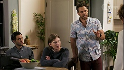 David Tanaka, Brent Colefax, Aaron Brennan, Susan Kennedy in Neighbours Episode 8557