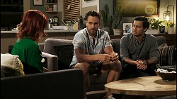 Nicolette Stone, Aaron Brennan, David Tanaka in Neighbours Episode 8557