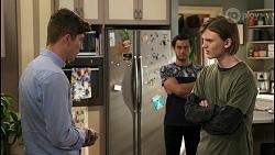 Hendrix Greyson, David Tanaka, Brent Colefax in Neighbours Episode 8558