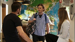 Ned Willis, Brent Colefax, Harlow Robinson in Neighbours Episode 8558