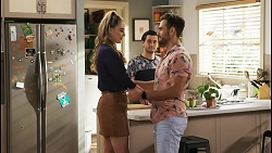 Chloe Brennan, David Tanaka, Aaron Brennan in Neighbours Episode 8558