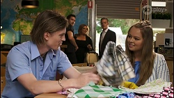 Brent Colefax, Ned Willis, Terese Willis, Paul Robinson, Harlow Robinson in Neighbours Episode 8558