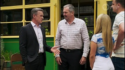 Paul Robinson, Karl Kennedy, Roxy Willis, Kyle Canning in Neighbours Episode 8559